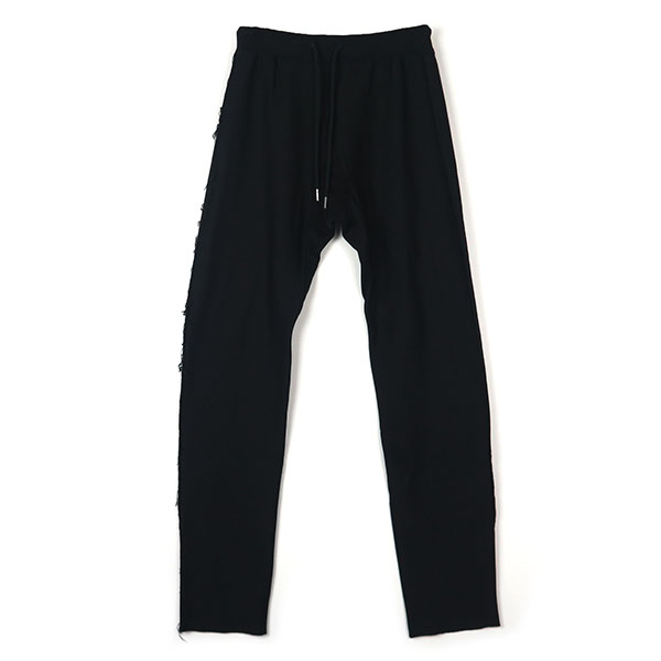 sweat pants./black