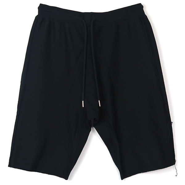 sweat shorts./black