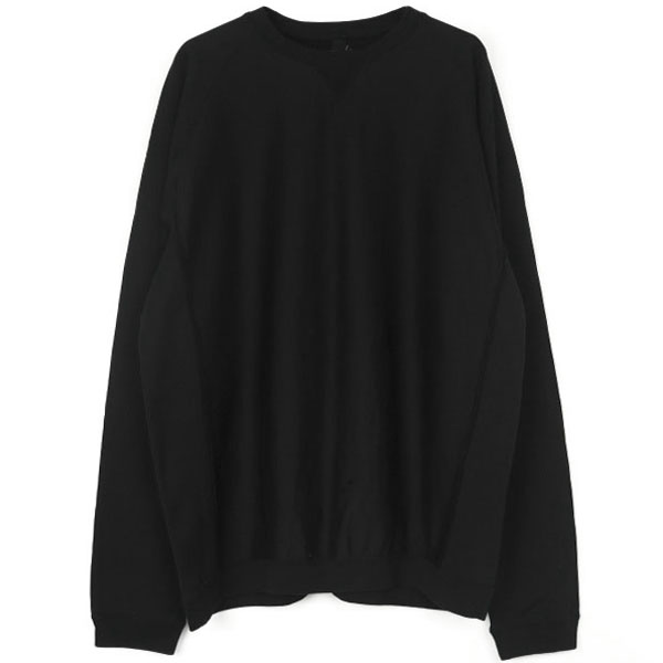 oversized crew neck freedom l/s sweatshirt./black
