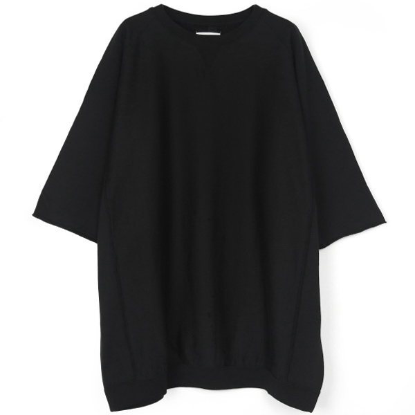 oversized crew neck freedom s/s sweatshirt./black