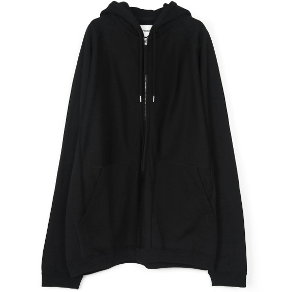 oversized long zip freedom l/s hoodie./black