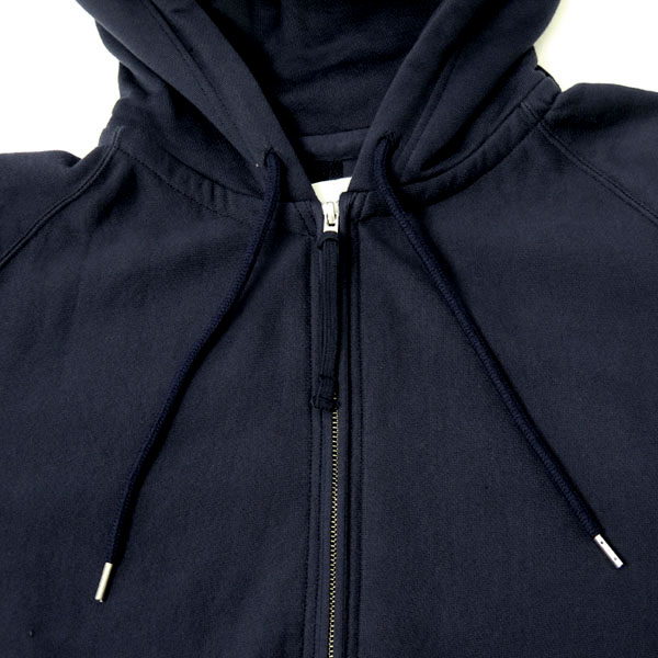oversized long zip freedom l/s hoodie./navy