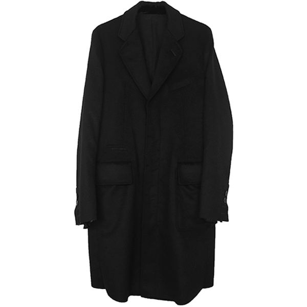 chesterfield coat./black