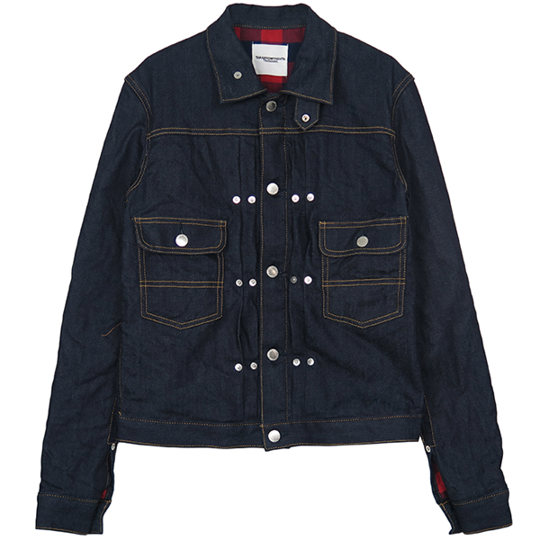 jean jacket./indigo/red×navy