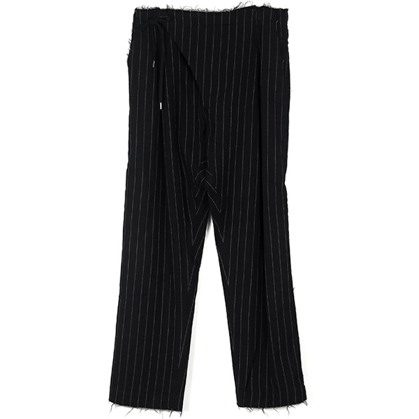 crossover pajama pants./black×white
