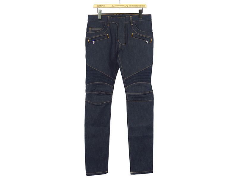 BIKER STRETCH DENIM JEANS(NONWASH)
