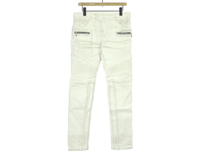 BIKER STRETCH DENIM JEANS