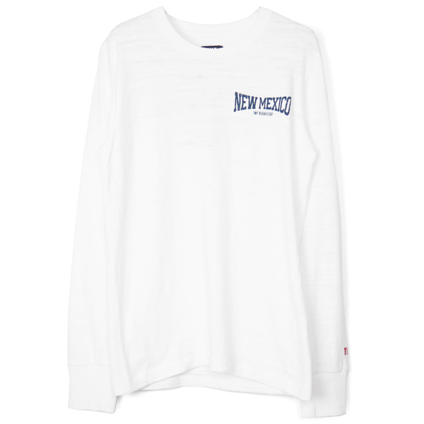 L/SL COTTON SLUB SINGLE JERSEY(NEW MEXICO)/WHITE
