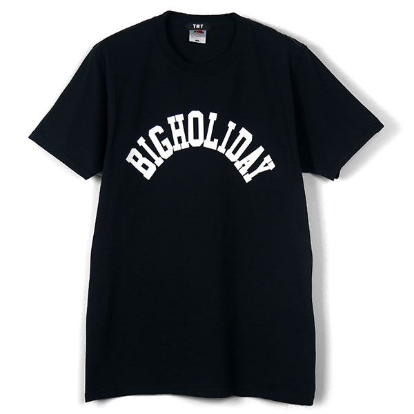 TMT×FRUIT OF THE LOOM TEE (BIGHOLIDAY)/BLACK(TCSS18FL06)