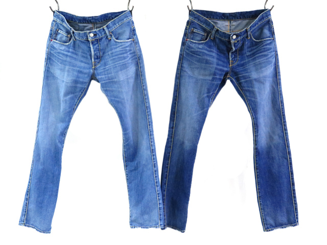 BOLD STITCH LEFT DENIM PANTS(TPT-S1502)