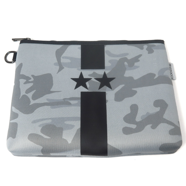 Gray Starline black camouflage clutch