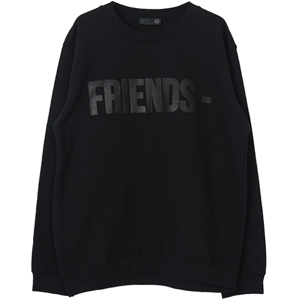 FRIENDS CREW SWEAT/BLACK/BLACK