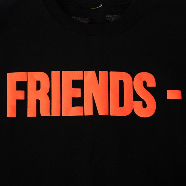 FRIENDS CREW SWEAT/BLACK/ORANGE