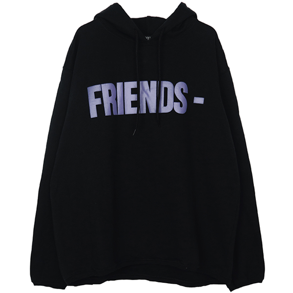 FRIENDS HOODIE/BLACK/PURPLE