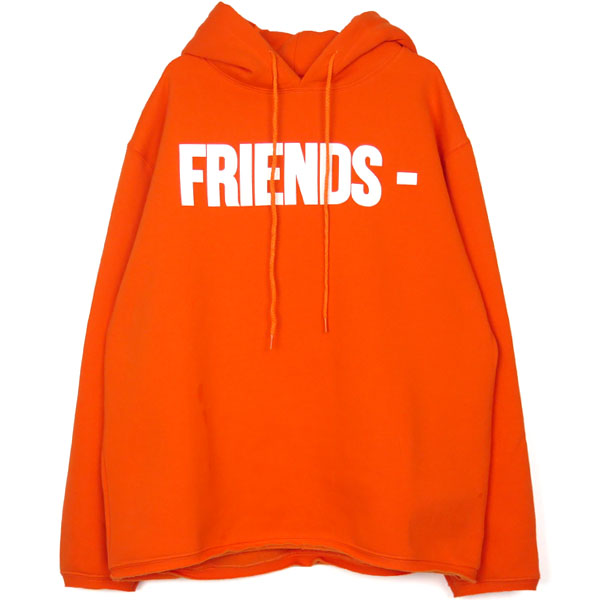 FRIENDS HOODIE/ORANGE/WHITE