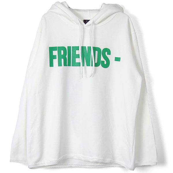 FRIENDS HOODIE/WHITE/GREEN