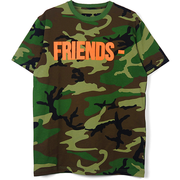 FRIENDS SHORT SLEEVE TEE/CAMOUFLAGE/ORANGE