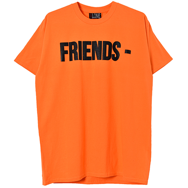 FRIENDS SS TEE/ORANGE×BLACK