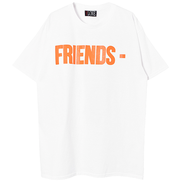 FRIENDS SS TEE/WHITE/ORANGE
