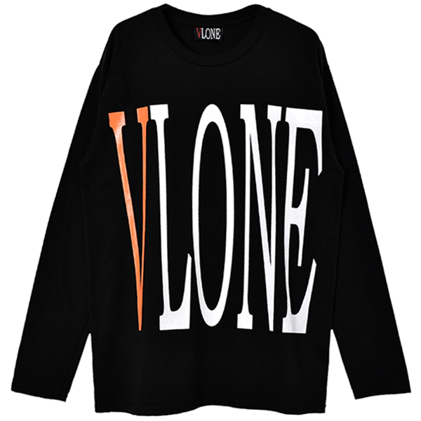 LOGO LS TEE/BLACK/ORANGE