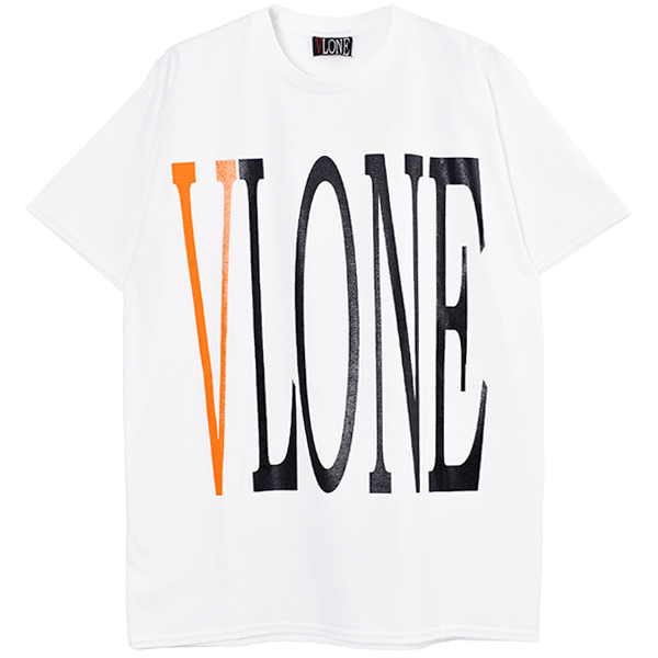 LOGO SS TEE/WHITE×ORANGE