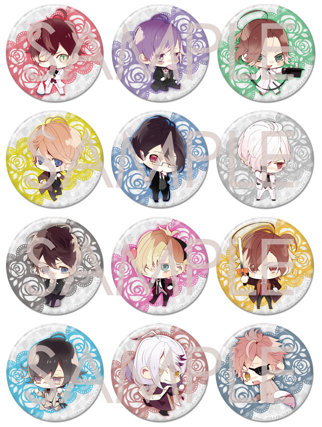 【50%OFF_SPRING_SALE_2019】DIABOLIK LOVERS BLOODY BOUQUET ビッグ缶バッジ2015 vol.2