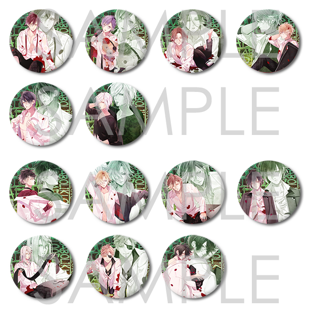 DIABOLIK LOVERS 吸愛事後-Twilight Attention- SKiT Dolce限定ビッグ缶バッジ