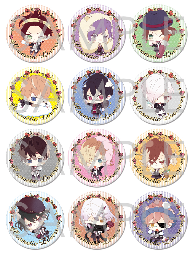 DIABOLIK LOVERS COSMETIC LOVERS ビッグ缶バッジ