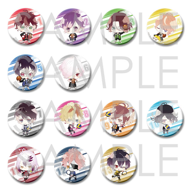【20%OFF_SPRING_SALE_2019】DIABOLIK LOVERS ちびっこヴァンパイア スポーツプレイヤー ビッグ缶バッジ