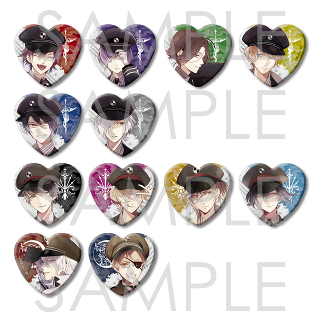 【20%OFF_SPRING_SALE_2019】DIABOLIK LOVERS メタリックハート缶バッジ