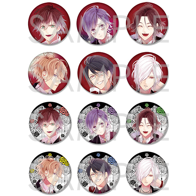 DIABOLIK LOVERS Rejet 10th Anniversary ビッグ缶バッジ