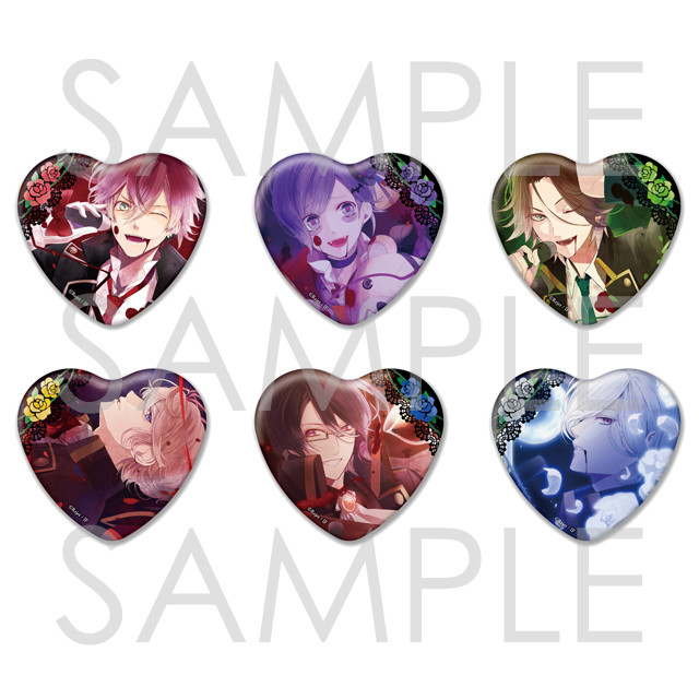 DIABOLIK LOVERS Sadistic Song ビッグハート缶バッジ