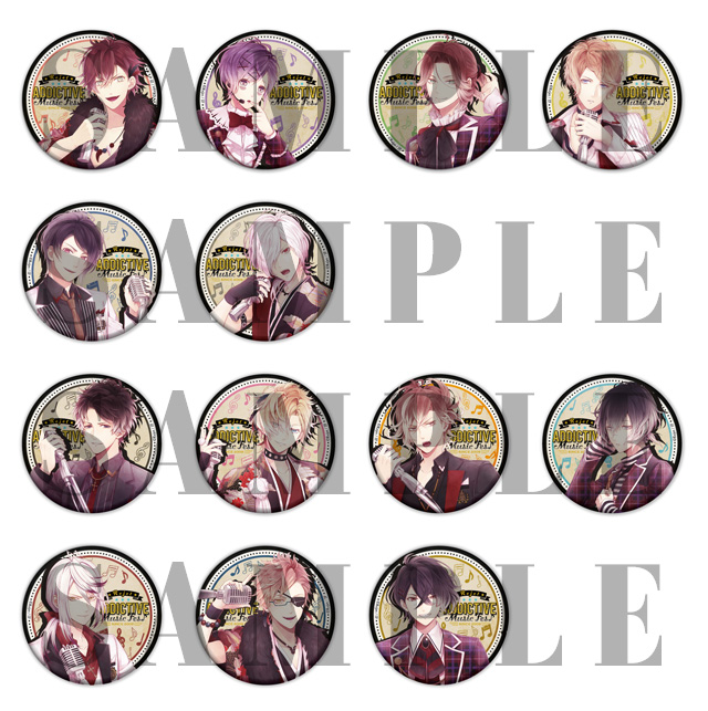 【20%OFF_SPRING_SALE_2019】AGF2018 AMF DIABOLIK LOVERS ビッグ缶バッジ