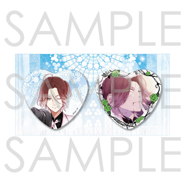 【20%OFF_WINTER_SALE_2020】DIABOLIK LOVERS BLOODY BOUQUET ビッグハート缶バッジ 2個セット ライト