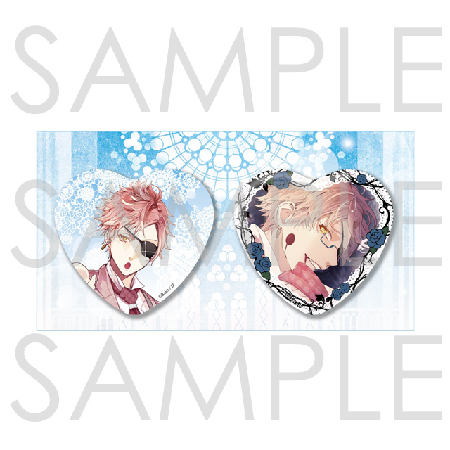 DIABOLIK LOVERS BLOODY BOUQUET ビッグハート缶バッジ 2個セット シン