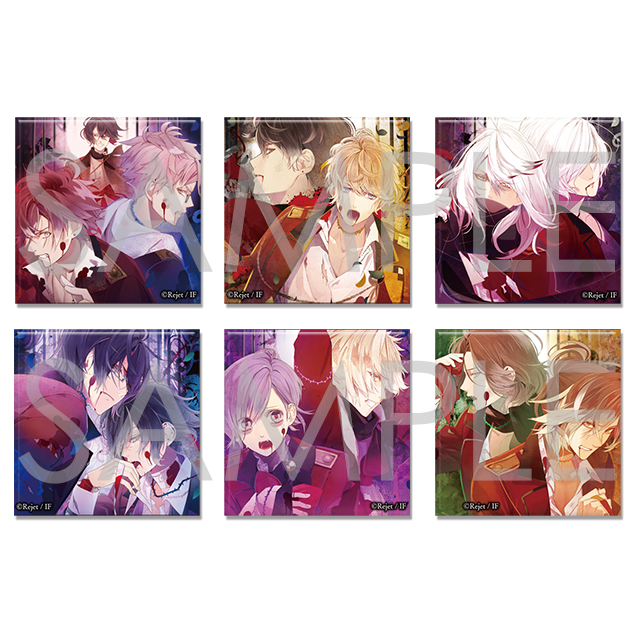 【50%OFF_SUMMER_SALE_2019】DIABOLIK LOVERS VERSUS IV スクエア缶バッジ