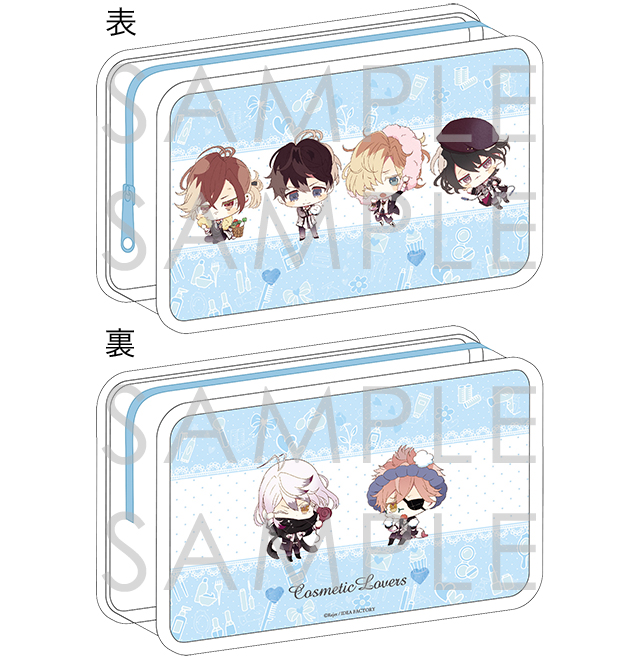DIABOLIK LOVERS COSMETIC LOVERS ビューティーポーチ for Girl 無神・月浪Ver.