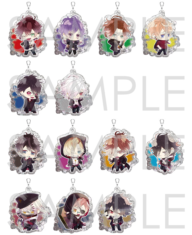 【30%OFF_SUMMER_SALE_2018】DIABOLIK LOVERS Bloody Villain キラキラアクリルストラップ