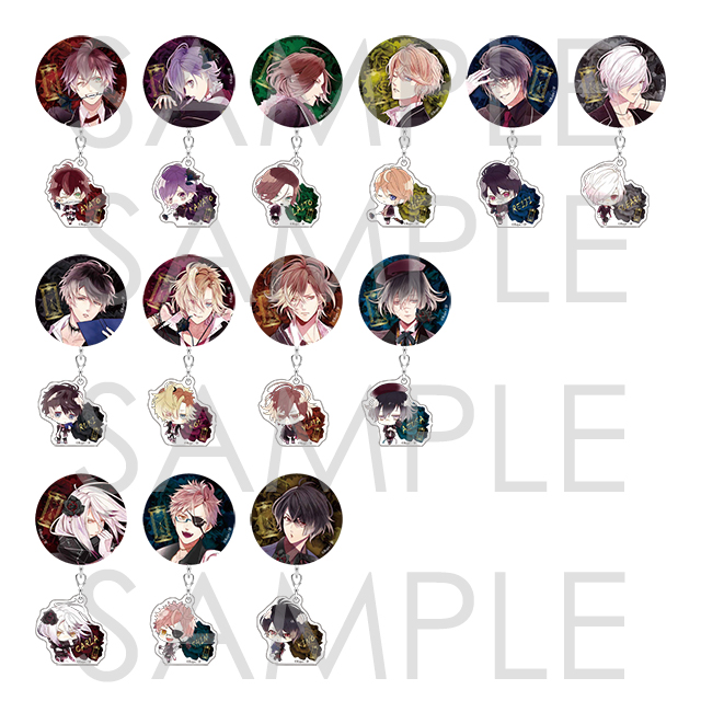 DIABOLIK LOVERS MORE, MORE BLOOD 缶バッジ&アクリルセット