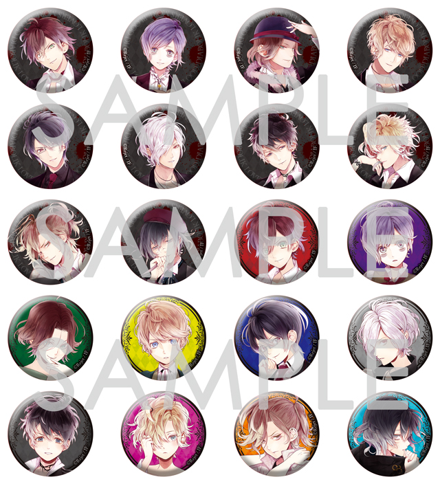 【30%OFF_SUMMER_SALE_2018】DIABOLIK LOVERS MORE,BLOOD 缶バッジ2014 vol.1