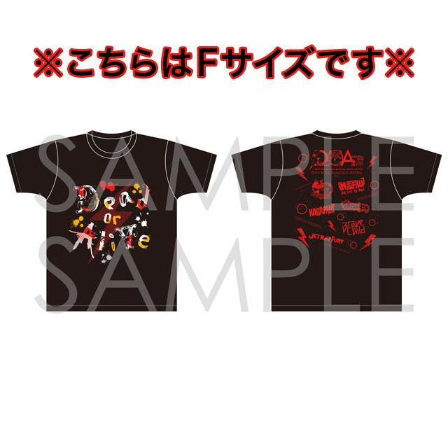 【CR69Fes.2018】Dead or Alive オフィシャルTシャツ JET RAT FURY Ver. Fサイズ
