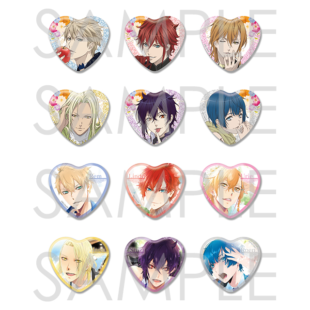 【20%OFF_SUMMER_SALE_2019】Dance with Devils -EverSweet- ビッグハート缶バッジ