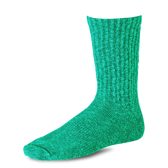Over-dyed Tonal Cotton Ragg Crew Socks Green