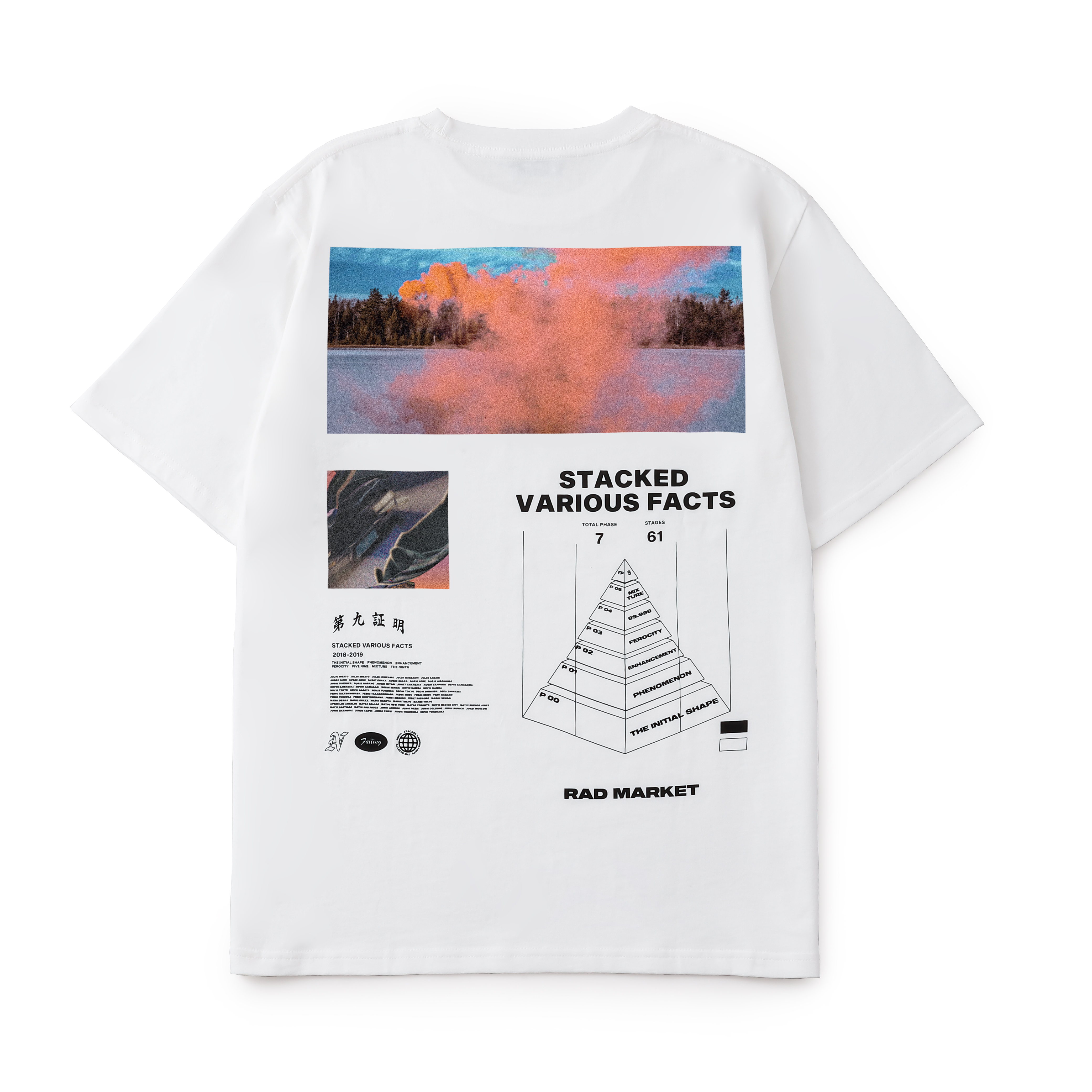 PHASE PYRAMID TEE / WH