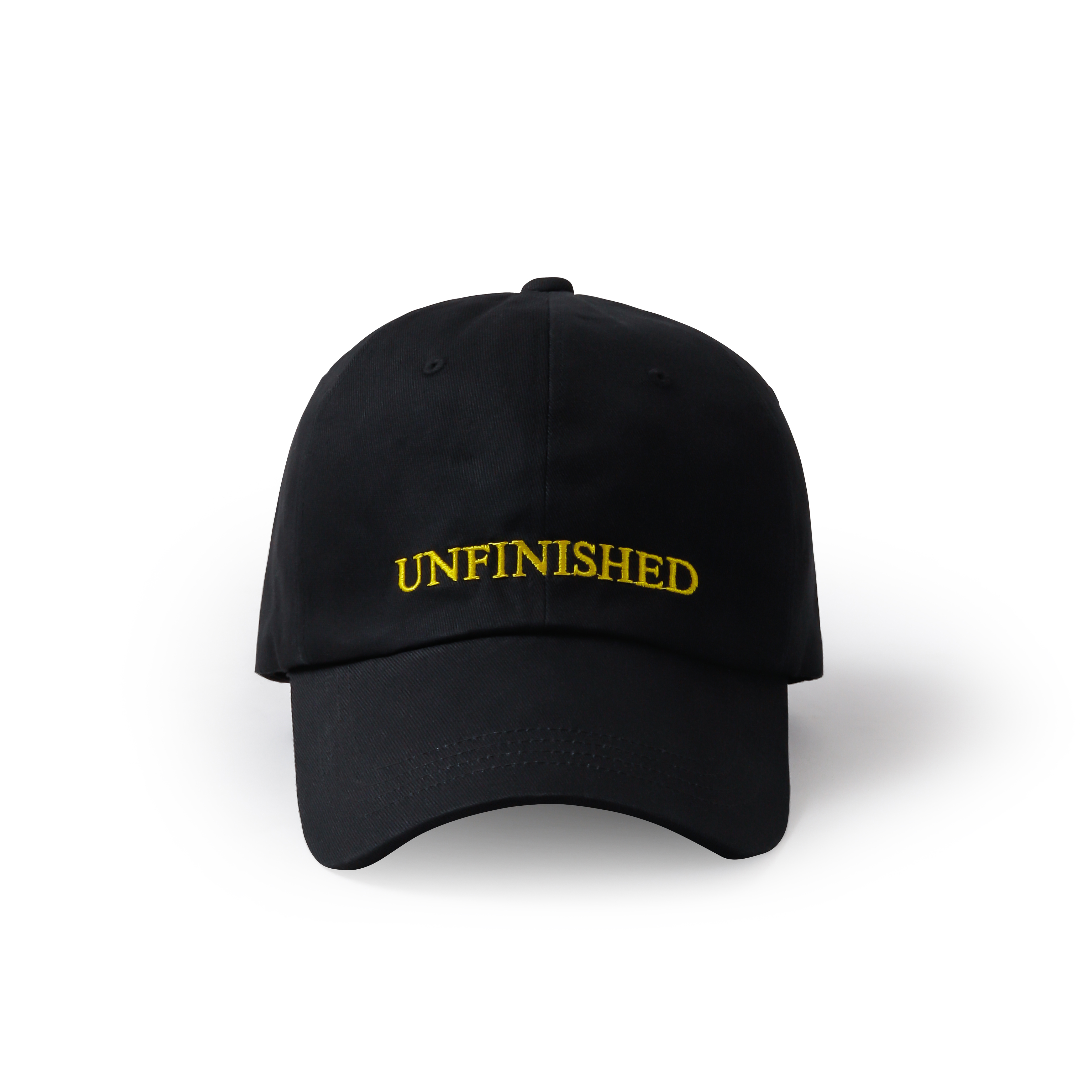 UNFINISHED LOGO CAP BLK×YL