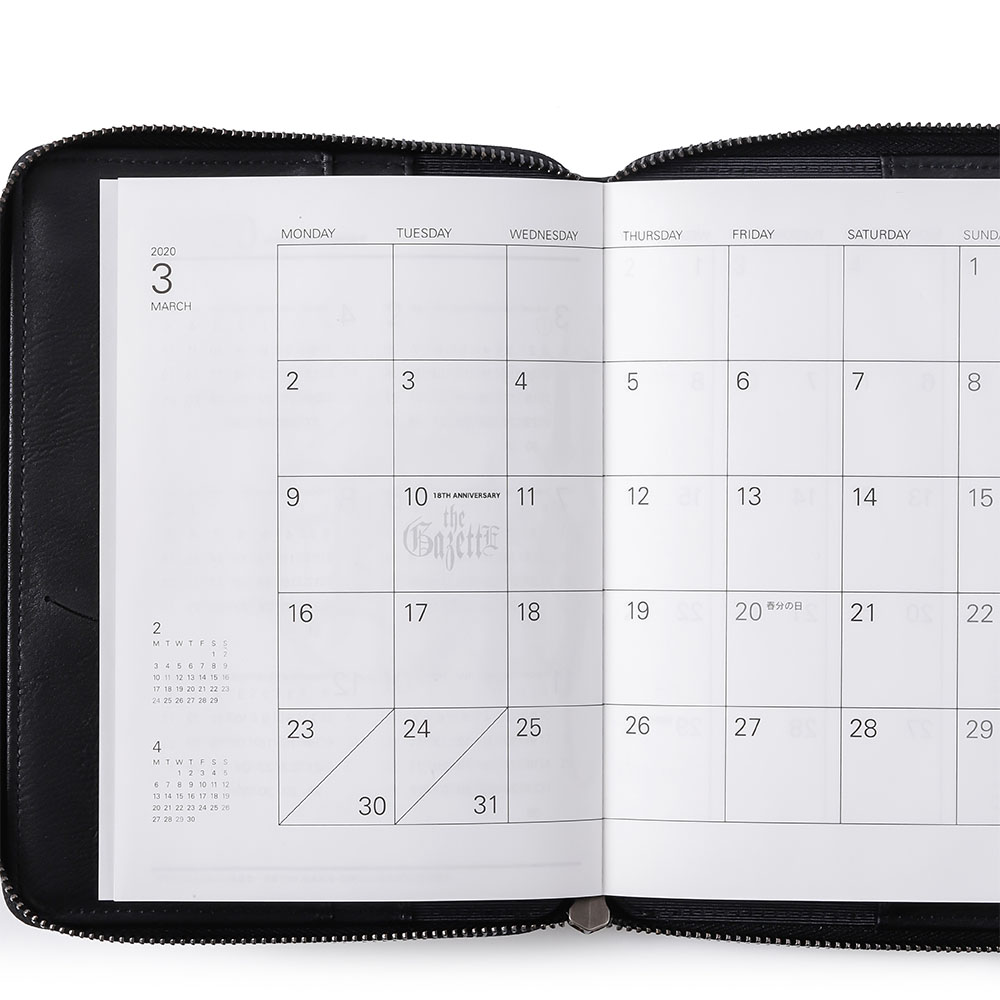 LEATHER SCHEDULE BOOK