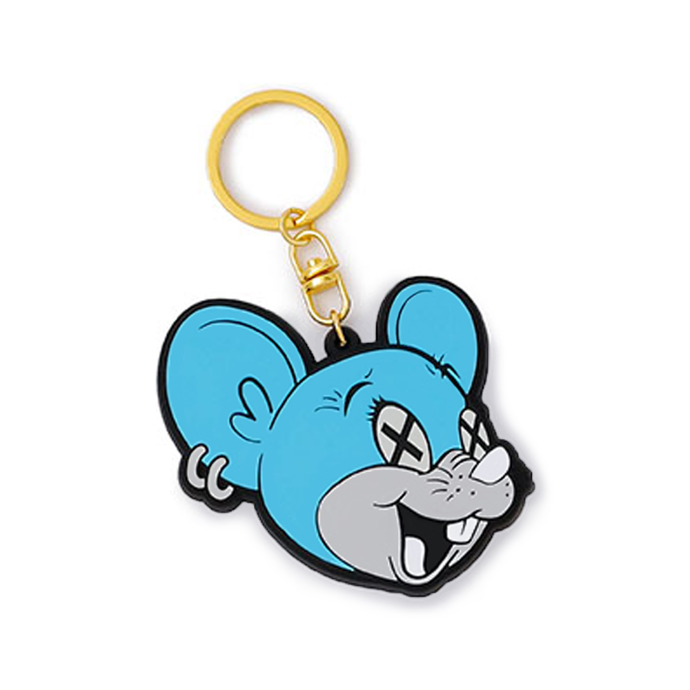 RUBBER KEY HOLDER  /  MOUSE x BLUE