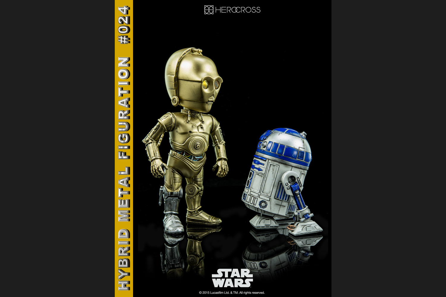 HeroCross #024 Star Wars C-3PO /& R2-D2 Set of 2