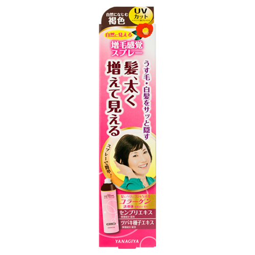 Ladies TOP SHADE Spray Wig <Naturally blended brown> N