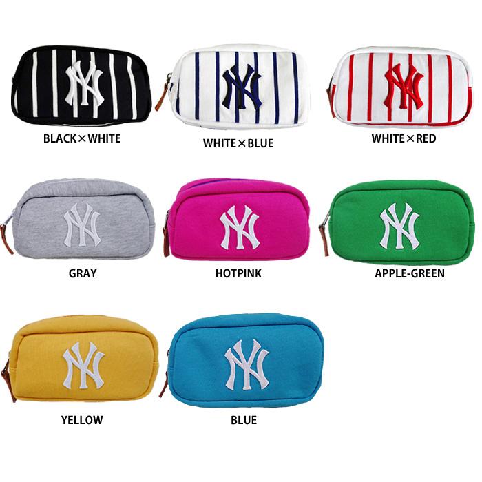 746a8c123bde 即日出荷 イーカム MLB ニューヨークヤンキース ポーチ 小物入れ ロゴ刺繍 YK-PCH07